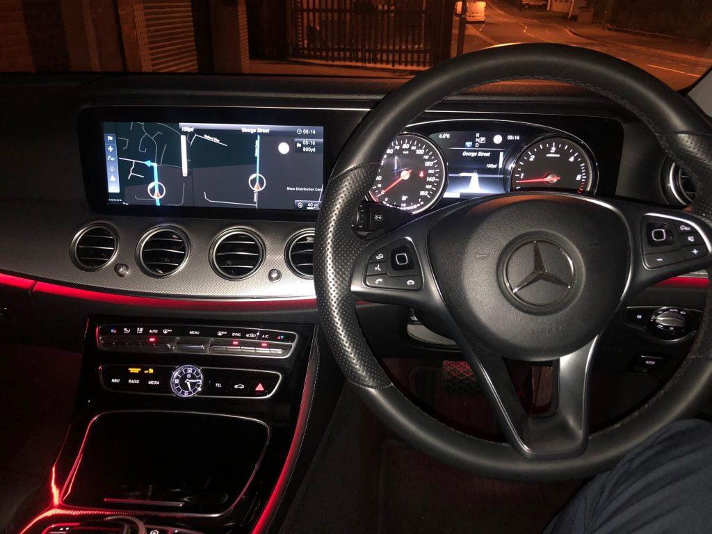 Interior of Mercedes Estate Vehicle